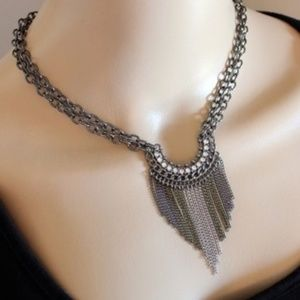 Jewelry - 🌷3 for $28🌷 Handmade Black Fringe Necklace